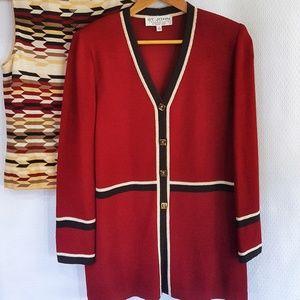 St John Sport Classic Long Cardigan Cardi Sweater
